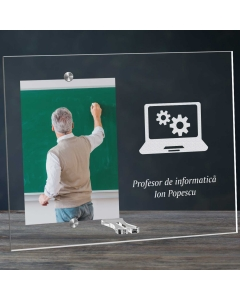 Cadou personalizat rama plexiglas - Profesor de informatica | Ghizbi.ro
