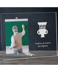 Cadou personalizat rama plexiglas - Profesor de istorie   Ghizbi.ro