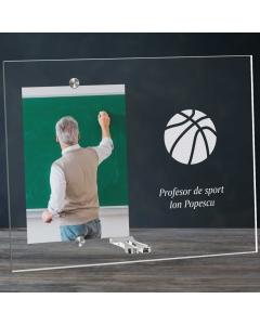 Cadou personalizat rama plexiglas - Profesor de sport   Ghizbi.ro