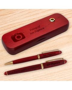 Cadou personalizat set instrumente de scris din palisandru - Fotograf | Ghizbi.ro