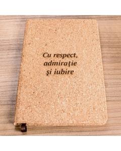 Cadou personalizat agenda bambus - Simbolul elegantei | Ghizbi.ro