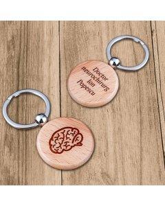 Cadou personalizat breloc din lemn - Doctor neurochirurg