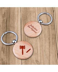 Cadou personalizat breloc din lemn - Contabil
