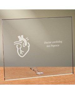 Cadou personalizat placheta din plexiglas - Doctor cardiolog