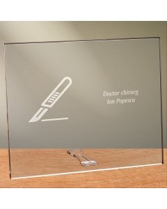 Cadou personalizat placheta din plexiglas - Doctor chirurg