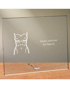 Cadou personalizat placheta din plexiglas - Doctor estetician