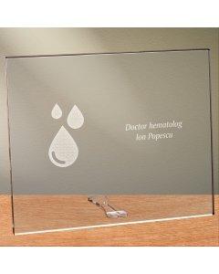 Cadou personalizat placheta din plexiglas - Doctor hematolog