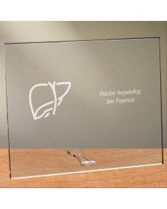 Cadou personalizat placheta din plexiglas - Doctor hepatolog
