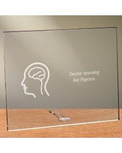 Cadou personalizat placheta din plexiglas - Doctor neurolog