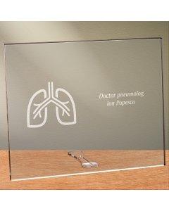 Cadou personalizat placheta din plexiglas - Doctor pneumolog