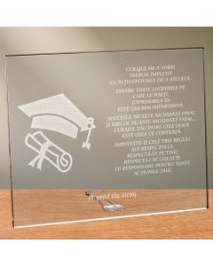 Cadou personalizat placheta din plexiglas - Fericirea depinde de ce gandesti | Ghizbi.ro
