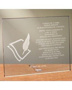 Cadou personalizat placheta din plexiglas - Limba romana nu se pierde