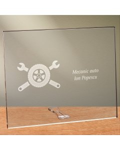 Cadou personalizat placheta din plexiglas - Mecanic auto | Ghizbi.ro