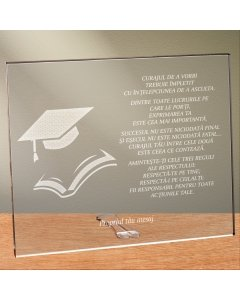 Cadou personalizat placheta din plexiglas - Nu inceta sa urci | Ghizbi.ro