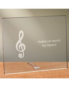 Cadou personalizat placheta din plexiglas - Profesor de muzica | Ghizbi.ro