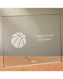 Cadou personalizat placheta din plexiglas - Profesor de geografie
