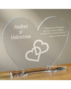Cadou personalizat placheta plexiglas inima - Inimi legate