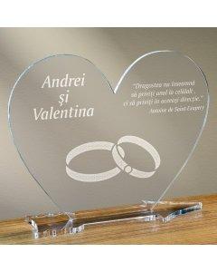Cadou personalizat placheta plexiglas inima - Simbolul iubirii infinite | Ghizbi.ro