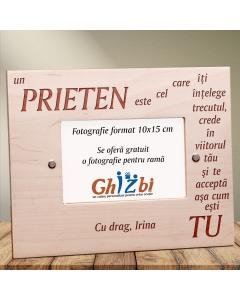 Cadou personalizat rama din lemn - Ce este un prieten | Ghizbi.ro