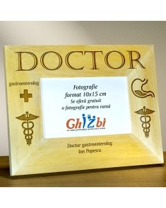 Cadou personalizat rama din lemn - Doctor gastroenterolog