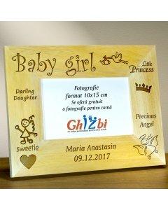Cadou personalizat rama din lemn - Oh bebelusule
