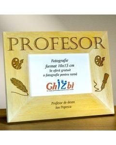 Cadou personalizat rama din lemn - Profesor de desen