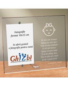 Cadou personalizat rama plexiglas - Botez fetita