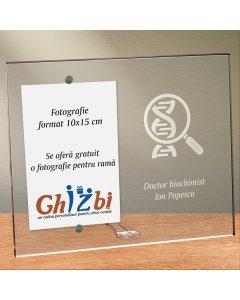 Cadou personalizat rama plexiglas -  Doctor biochimist