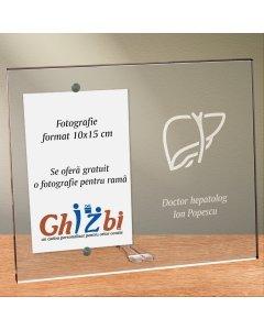 Cadou personalizat rama plexiglas -  Doctor hepatolog