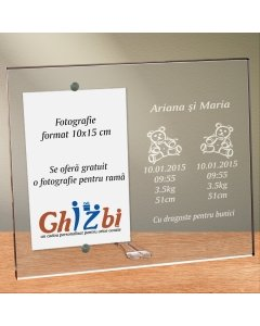 Cadou personalizat rama plexiglas - Gemenii sunt o binecuvantare
