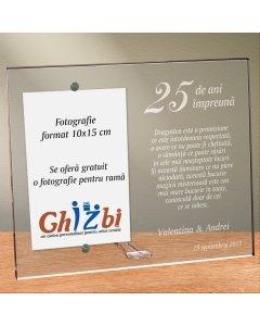 Cadou personalizat rama plexiglas - Nunta de argint