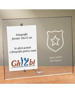 Cadou personalizat rama plexiglas -  Politist