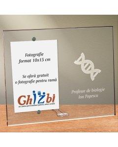 Cadou personalizat rama plexiglas - Profesor de biologie