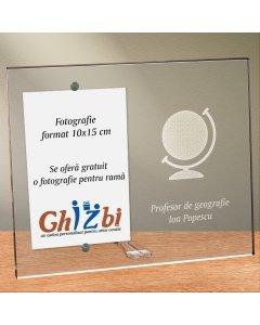 Cadou personalizat rama plexiglas - Profesor de geografie