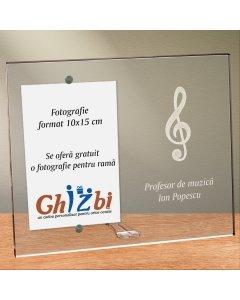Cadou personalizat rama plexiglas - Profesor de muzica
