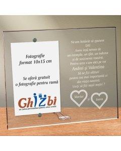 Cadou personalizat rama plexiglas - Vreti sa fiti nasii nostri