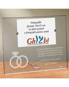 Cadou personalizat rama plexiglas - Doua suflete, un singur gand