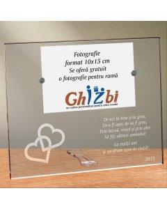 Cadou personalizat rama plexiglas - Uniti pentru eternitate