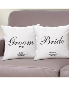 Cadou personalizat set perne - Bride Groom