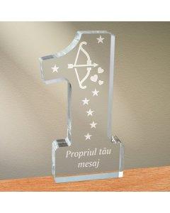 Cadou personalizat trofeu plexiglas cifra - Arcul lui Cupidon