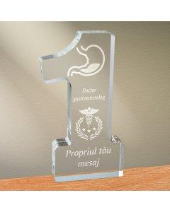 Cadou personalizat trofeu plexiglas cifra - Doctor gastroenterolog