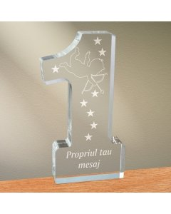 Cadou personalizat trofeu plexiglas cifra - Dovada de iubire