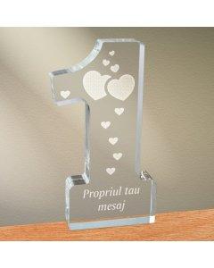 Cadou personalizat trofeu plexiglas cifra inimi - Din dragoste   Ghizbi.ro