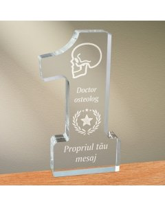 Cadou personalizat trofeu plexiglas cifra stele - Doctor osteolog