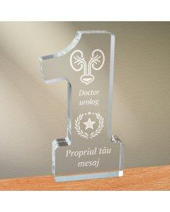 Cadou personalizat trofeu plexiglas cifra stele - Doctor urolog