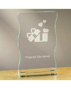 Cadou personalizat trofeu plexiglas cu suport - Cadou din dragoste
