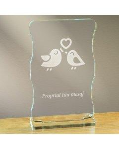 Cadou personalizat trofeu plexiglas cu suport - Perechea perfecta