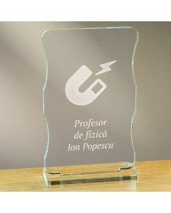 Cadou personalizat trofeu plexiglas cu suport - Profesor de fizica | Ghizbi.ro