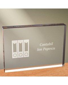 Cadou personalizat trofeu plexiglas dreptunghiular - Contabil | Ghizbi.ro