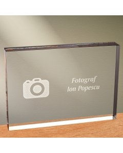 Cadou personalizat trofeu plexiglas dreptunghiular - Fotograf | Ghizbi.ro